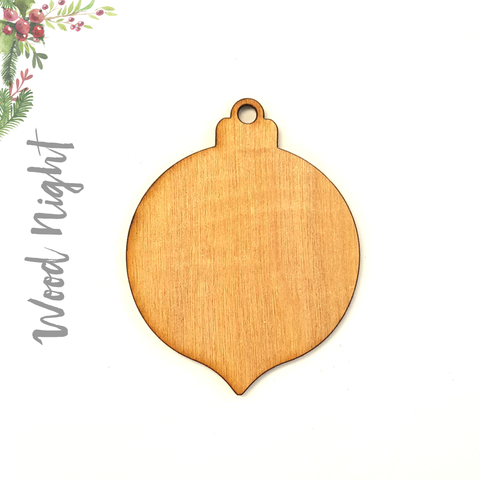 Wood Christmas Ornaments Night (Package.Price)