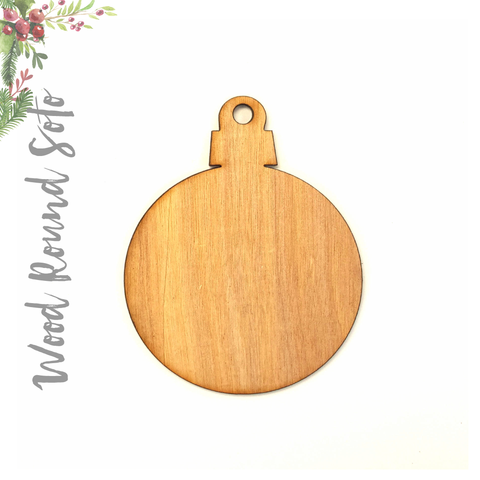 Wood Christmas Ornaments Round Soto (Package.Price)