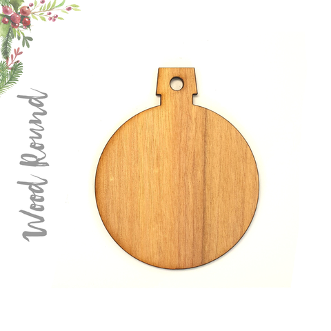 Wood Christmas Ornaments Round (Package.Price)