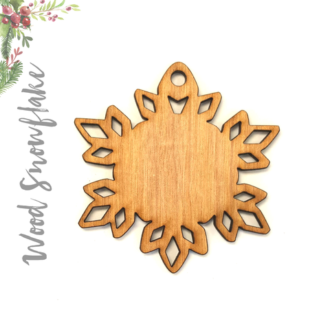 Wood Christmas Ornaments Snowflake (Package.Price)