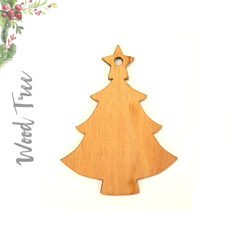 Wood Christmas Ornaments Tree (Package.Price)