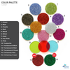 Acrylic Glitter Jewelry Samples (Pack 24 Units)