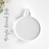 Acrylic Christmas Ornaments Round Soto