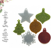 Glitter Acrylic Christmas Ornaments Samples (Pack 24 Units)
