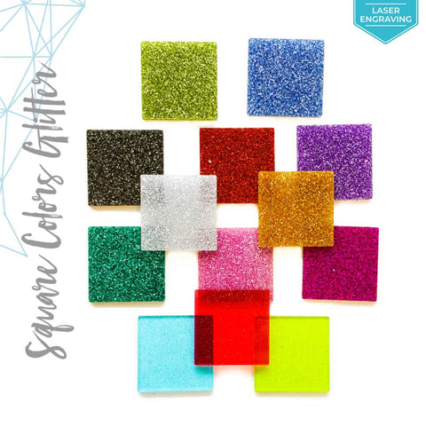 Laser Engraving Acrylic Square Glitter (Package.Price)