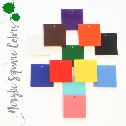 Acrylic Square Colors With Hole (Package.Price)