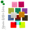 Acrylic Square Glitter With hole (Package.Price)