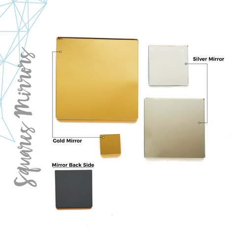 Acrylic Square Mirror (Package.Price)