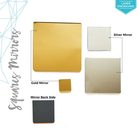 Laser Engraving Acrylic Square Mirror (Package.Price)