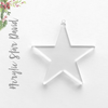 Acrylic Christmas Ornaments Star David