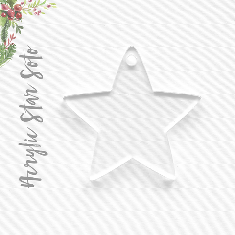 Acrylic Christmas Ornaments Star Soto