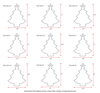 UV Printing Wood Christmas Ornaments Tree