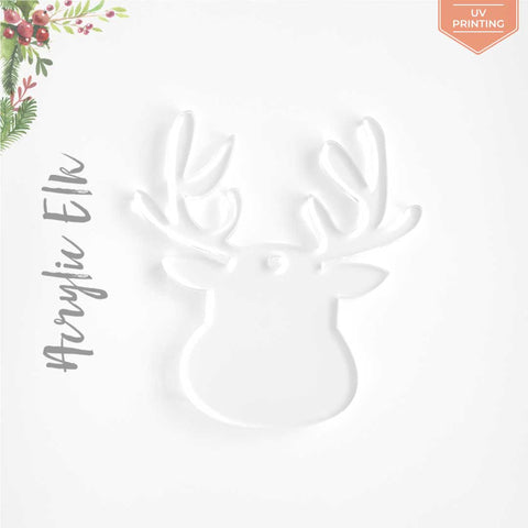 UV Printing Acrylic Christmas Ornaments Elk
