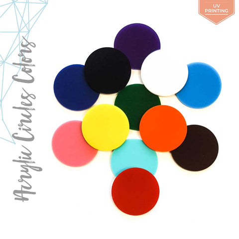UV Printing Acrylic Circle Colors (Package.Price)