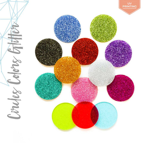 UV Printing Acrylic Circle Glitter (Package.Price)
