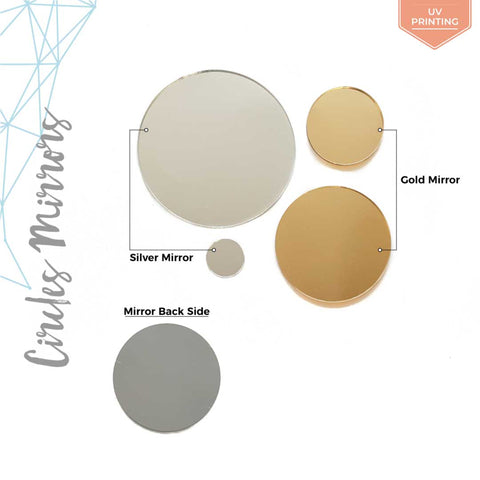 UV Printing Acrylic Circle Mirror (Package.Price)