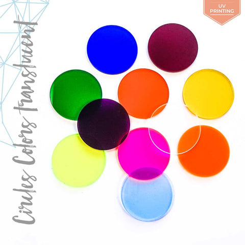 UV Printing Acrylic Circle Translucent Colors (Package.Price)