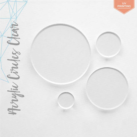 "UV Printing Acrylic Circles Clear 1/16"" or 1/8"" (Package.Price)"