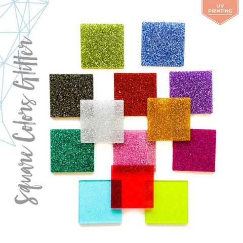 UV Printing Acrylic Square Glitter (Package.Price)