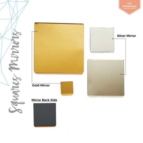 UV Printing Acrylic Square Mirror (Package.Price)