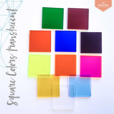 UV Printing Acrylic Square Translucent Colors (Package.Price)