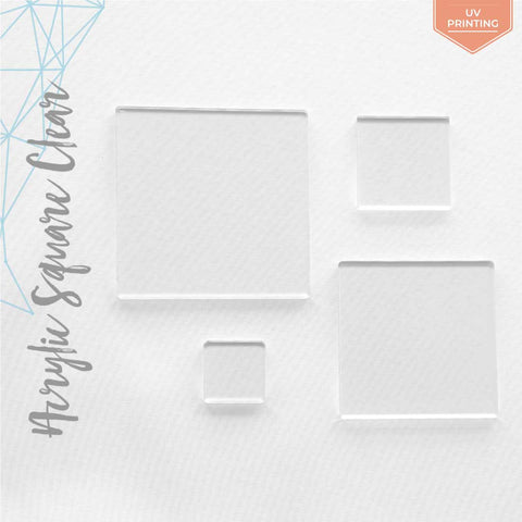 "UV Printing Acrylic Square Clear 1/16"" or 1/8"" (Package.Price)"