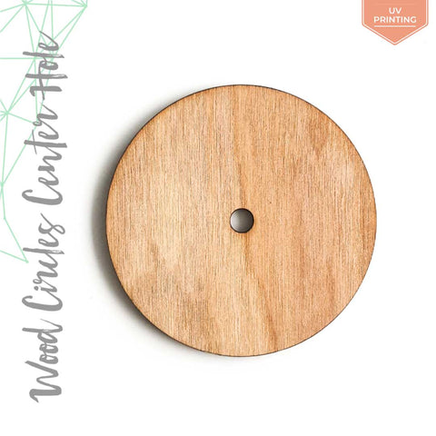 "UV Printing Wood Circles With Center Hole 3/16"" Thick (Package.Price)"