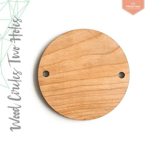 "UV Printing Wood Circles With Two Holes 3/16"" Thick (Package.Price)"
