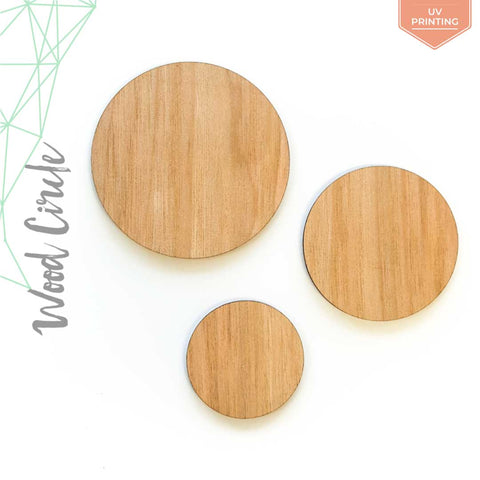 "UV Printing Wood Circles 3/16"" Thick (Package.Price)"