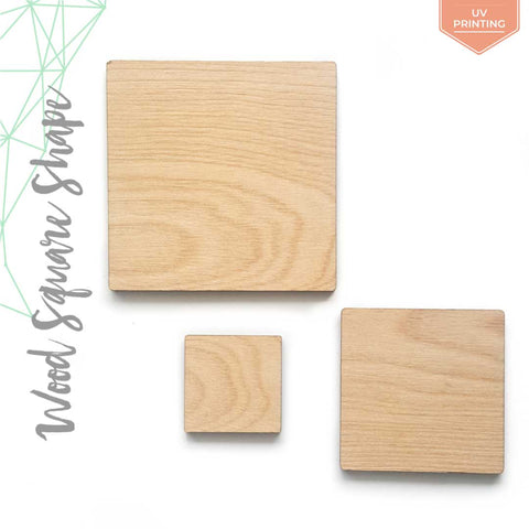 "UV Printing Wood Square 3/16"" Thick (Package.Price)"
