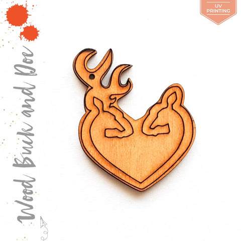 UV Printing Wood Keychain Buck & Doe (Package.Price)
