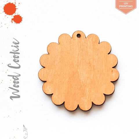 UV Printing Wood Keychain Cookie (Package.Price)