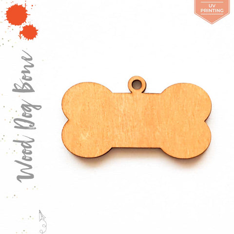 UV Printing Wood Keychain Dog Bone Soto (Package.Price)