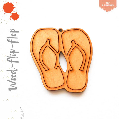 UV Printing Wood Keychain Flip Flop Pair (Package.Price)
