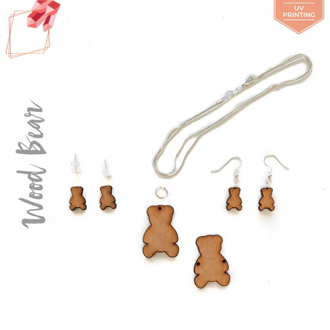 UV Printing Wood Jewelry Bear (Package.Price)