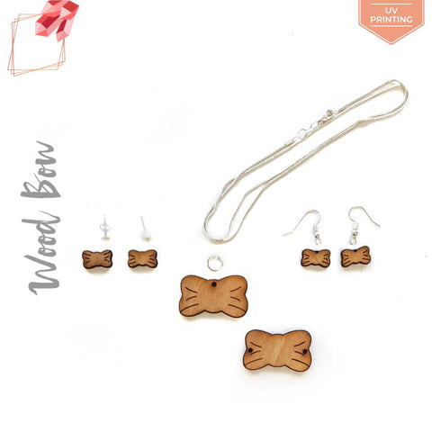UV Printing Wood Jewelry Bow (Package.Price)