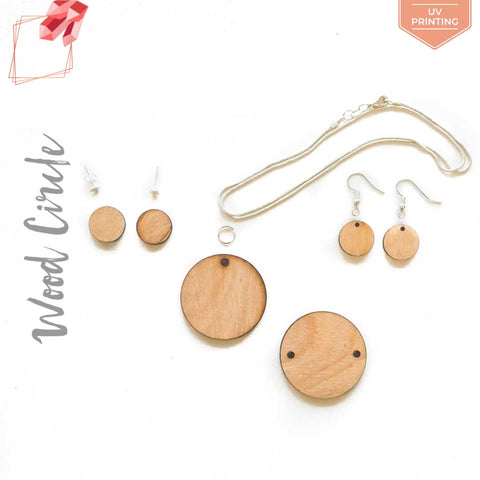 UV Printing Wood Jewelry Circles (Package.Price)