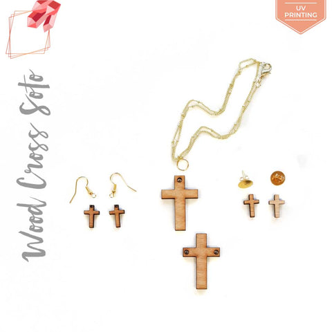 UV Printing Wood Jewelry Cross (Package.Price)