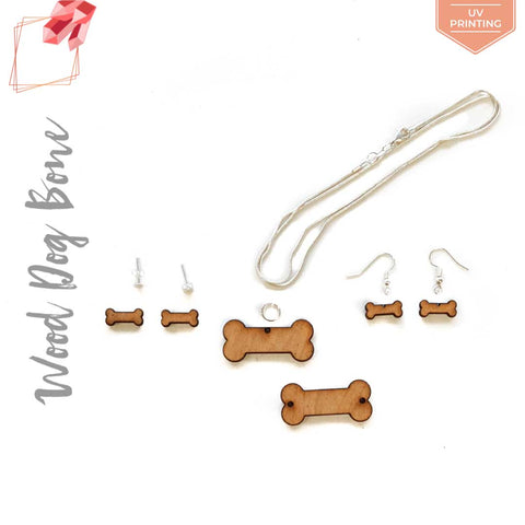 UV Printing Wood Jewelry Dog Bone (Package.Price)