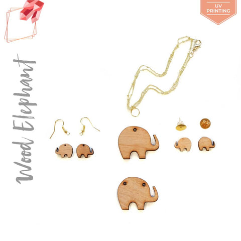UV Printing Wood Jewelry Elephant (Package.Price)