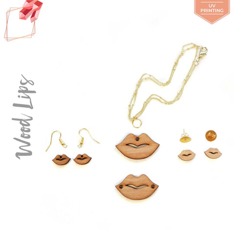UV Printing Wood Jewelry Lips (Package.Price)