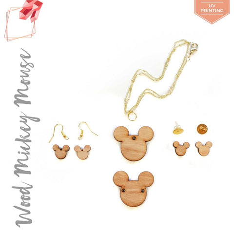 UV Printing Wood Jewelry Mickey Mouse (Package.Price)