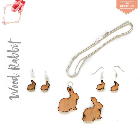 UV Printing Wood Jewelry Rabbit (Package.Price)