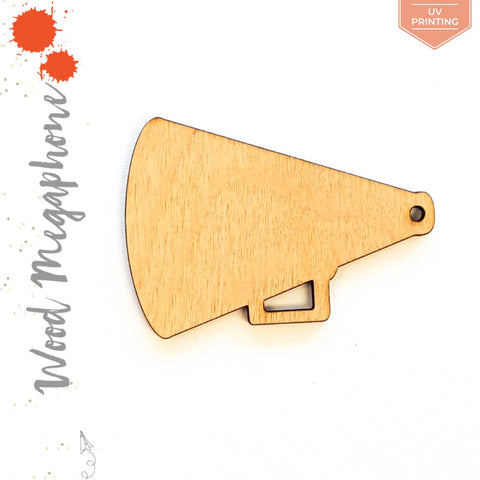 UV Printing Wood Keychain Megaphone (Package.Price)