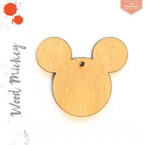 UV Printing Wood Keychain Mickey Mouse (Package.Price)