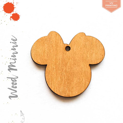 UV Printing Wood Keychain Minnie Mouse (Package.Price)