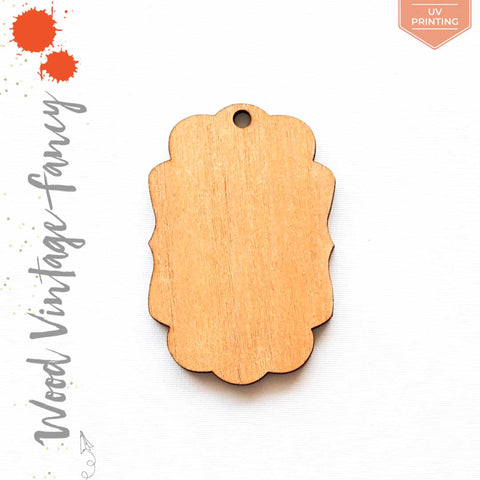 UV Printing Wood Keychain Vintage Fancy (Package.Price)