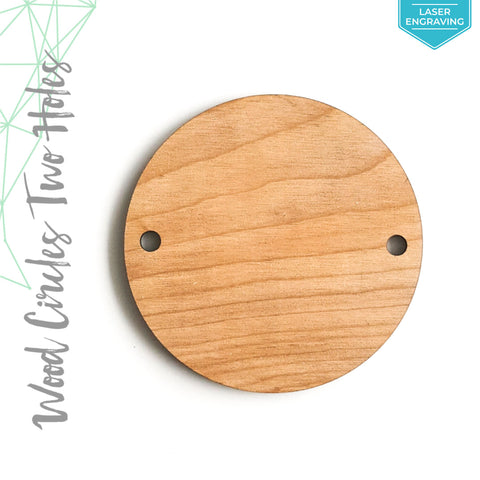 "Laser Engraving Wood Circles With Two Holes 3/16"" Thick (Package.Price)"