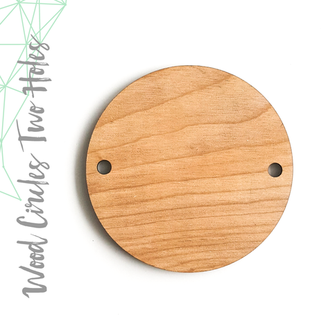 "Wood Circles With Two Holes 1/8"" Thick  (Package.Price)"