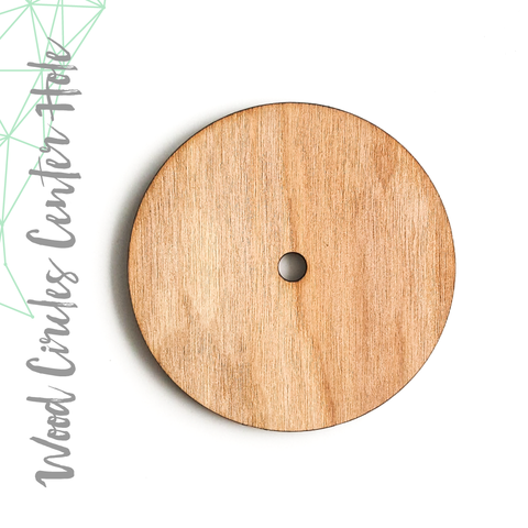"Wood Circles With 1/4"" Center Hole 1/8"" Thick (Package.Price)"